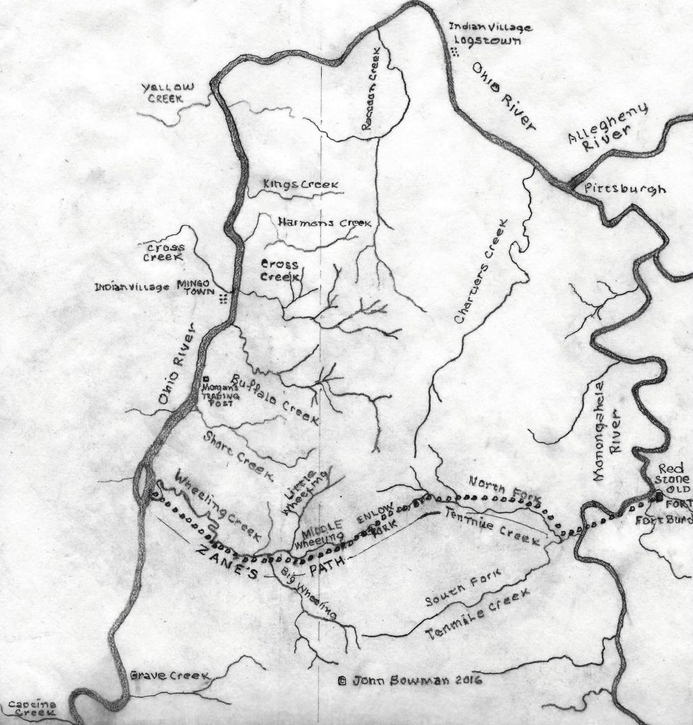 Zanes Path to Wheeling in 1760